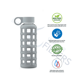 Geo Bottles 12oz Hot and Cold Glass Bottle - Buy Direct Water Filters