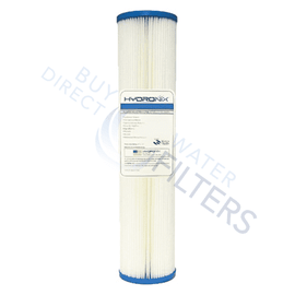 "Hydronix Pleated Sediment Filter 4.5"" x 20"" - Buy Direct Water Filters"