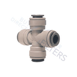 "John Guest 3/8"" Cross Connector - Buy Direct Water Filters"