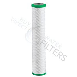 "Matrikx Chloraguard 20"" 1 Micron Green Carbon Block Filter - Buy Direct Water Filters"