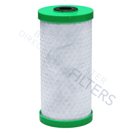 "Matrikx Chloraguard 10"" BB 1 Micron Green Carbon Block Filter - Buy Direct Water Filters"