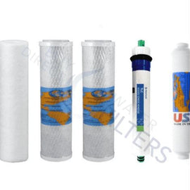 50 GPD Kemflo 5 Stage Reverse Osmosis Filter Set