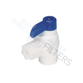 "Tank Ball Valve Elbow 1/4"" c x 1/4 FPT"
