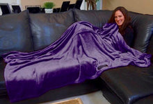 THROWBEE Blanket-Poncho - PURPLE