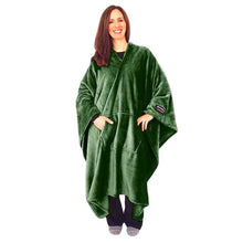 THROWBEE Blanket-Poncho - GREEN