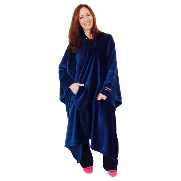 THROWBEE Blanket-Poncho - BLUE