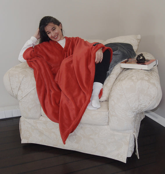 THROWBEE Blanket-Poncho - RED