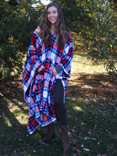 THROWBEE Blanket-Poncho - UPSTATE PLAID