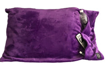 NEW throwbee PILLOWCASE 2.0 WITH SIDE POCKETS, yes SIDE POCKETS! - PURPLE