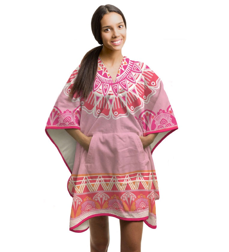 THROWBEE Towel-Poncho - Pink