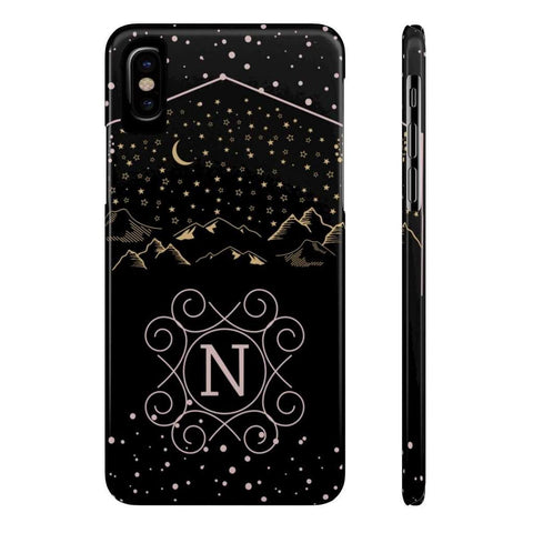 Monogram Collection- Starry Night- Choose your initial N Phone Case