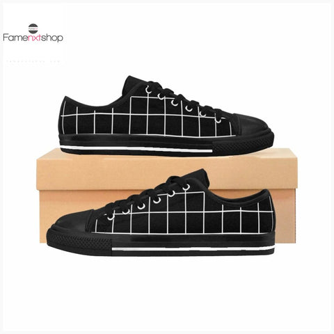 Black Grid Women's Sneakers