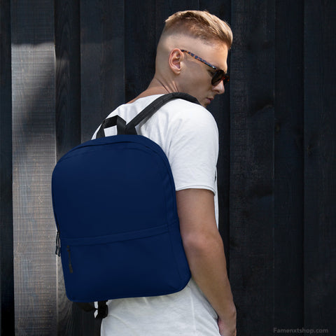 Navy Backpack from Solid Color Series [famenxtshop.com]