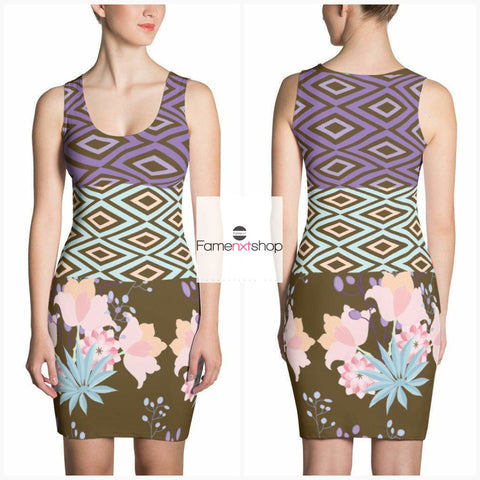 Abstract and Floral Pattern Dress Sale price