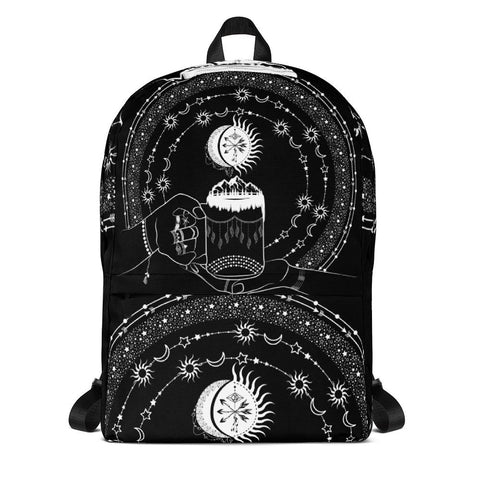 My Bohemian World from my15bohemianart Collection Black Backpack