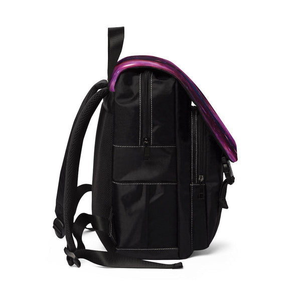 Pink Galaxy Unisex Casual Shoulder Backpack-Bags-famenxt