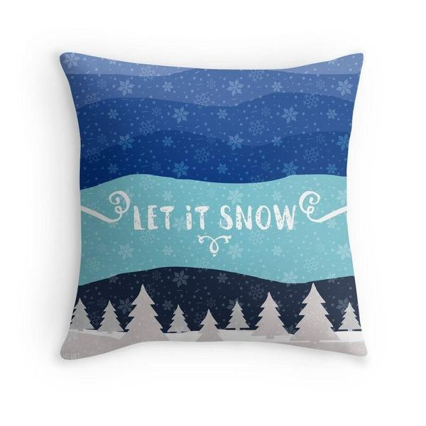 Let it Snow throw pillow case-Pillows-famenxt