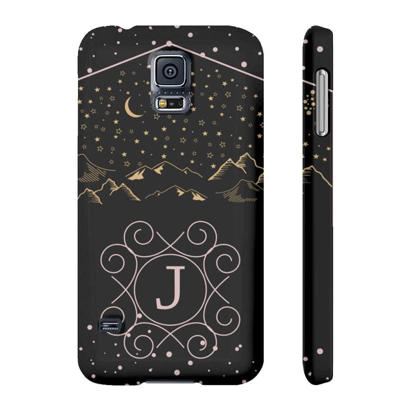 Monogram Collection- Starry Night- Choose your initial J Phone Case-Phone Case-famenxt