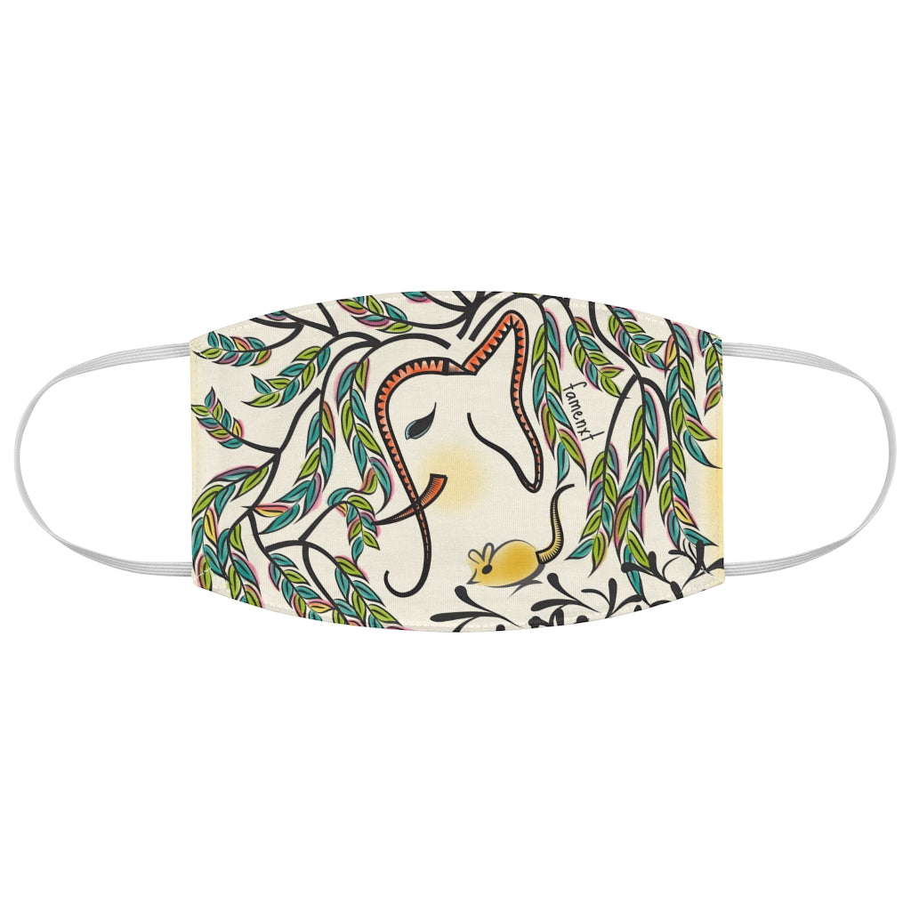 Vibrant Jungle Elephant Fabric Face Mask-Accessories-famenxt