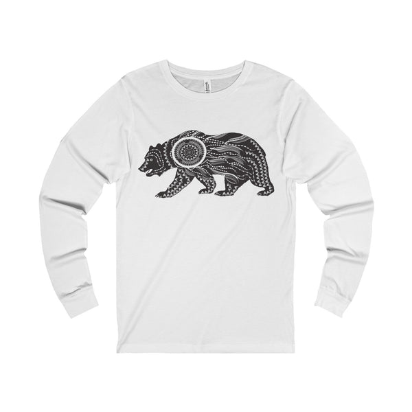 Ornate Bear Unisex Jersey Long Sleeve Tee-Long-sleeve-famenxt