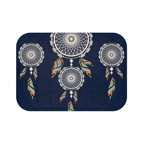 Dream Catcher Blue Bath Mat-Home Decor-famenxt