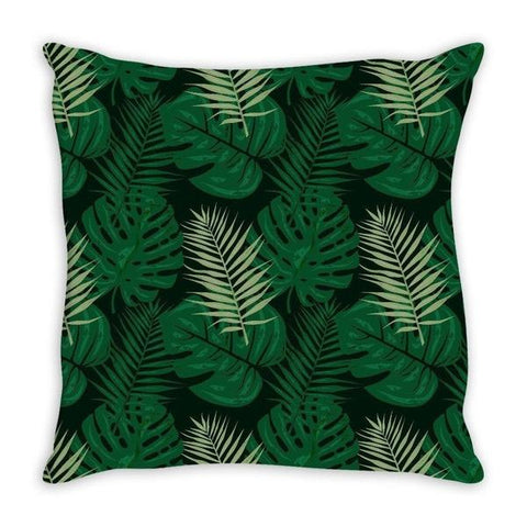 Tropical Leaves jungle theme throw pillow cover-Pillows-famenxt