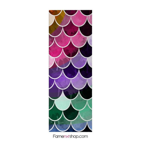 Mermaid colorful yoga mat-yoga mat-famenxt