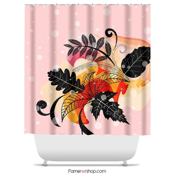 "Floral watercolor pink Shower Curtain Sizes: 70in x 70in, 70in x 83in, 70in x 90in, 71in x 74in Sizes: 70"" x 70"", 70"" x 83"", 70"" x 90"", 71"" x 74""-Shower Curtain-famenxt"