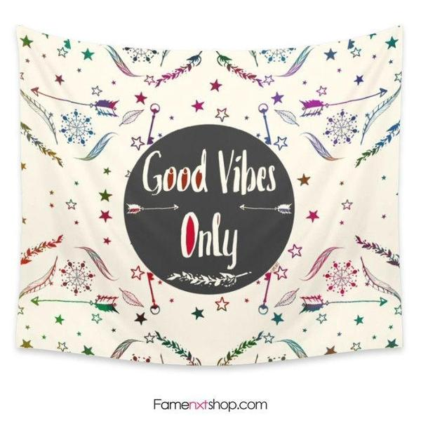 Good vibes Tapestry-Wall Tapestry-famenxt
