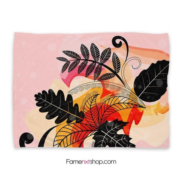 Floral pink watercolor Throw Blanket-Throw Blanket-famenxt