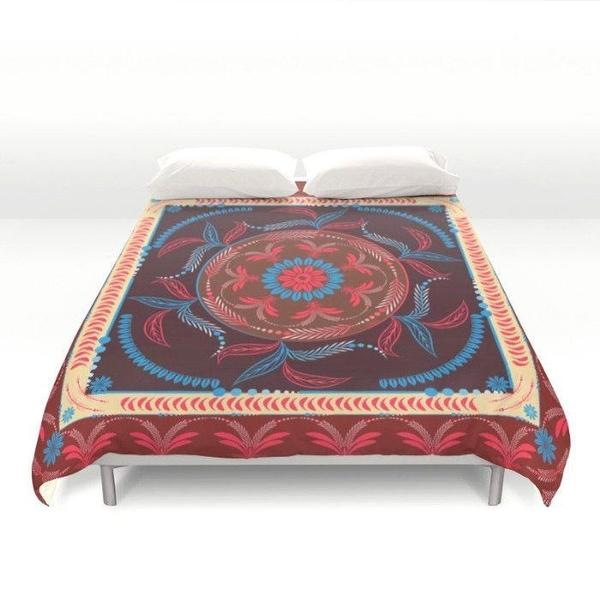 Indian Mandala Duvet Cover-Duvet Cover-famenxt