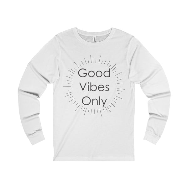 Good Vibes Only Unisex Jersey Long Sleeve Tee-Long-sleeve-famenxt