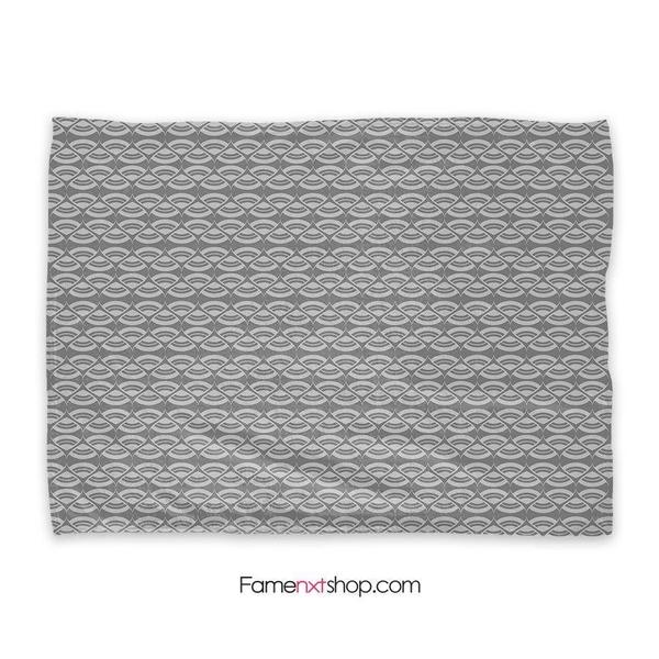 Geometric pattern gray Throw Blanket-Throw Blanket-famenxt