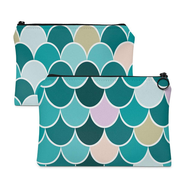 Mermaid Teal Accessory Pouch-accessory pouches-famenxt