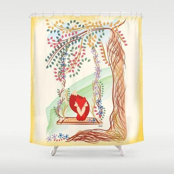 Red Fox Shower Curtain-Shower Curtain-famenxt