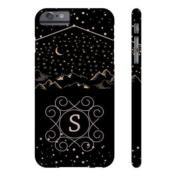 Monogram Collection- Starry Night- Choose your initial S Phone Case-Phone Case-famenxt