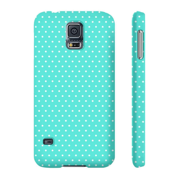Dots Turquoise Slim Phone Cases-Phone Case-famenxt
