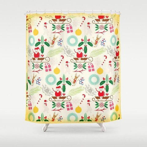 "Christmas shower curtain Sizes: 70in x 70in, 70in x 83in, 70in x 90in, 71in x 74in Sizes: 70"" x 70"", 70"" x 83"", 70"" x 90"", 71"" x 74""-Shower Curtain-famenxt"