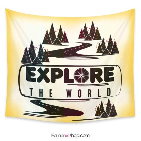 Explore the world Tapestry-Wall Tapestry-famenxt