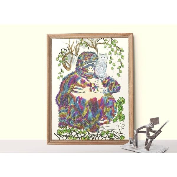 Gorilla and Cat poster-Posters-famenxt