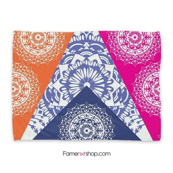 Folk bohemian mandala Throw Blanket-Throw Blanket-famenxt