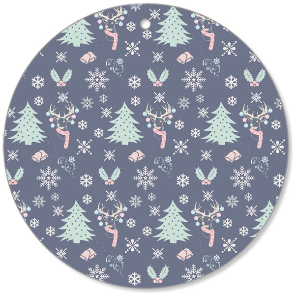 Christmas Pattern Decorative Christmas Canvas Ornaments-Christmas Canvas Ornaments-famenxt