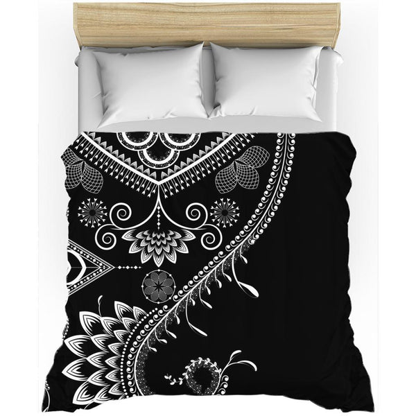 Boho Floral Ornate from my15bohemianart Collection Duvet Cover-Duvet Cover-famenxt