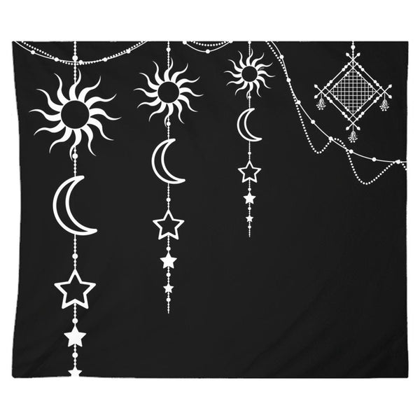 Bohemian Hanging Sun Moon Stars from my15bohemianart Collection Tapestry-Tapestries-famenxt