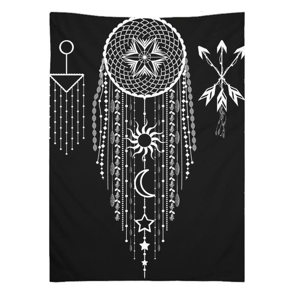 Bohemian Hanging Dreamcatcher from my15bohemianart Collection Tapestry-Wall Tapestry-famenxt