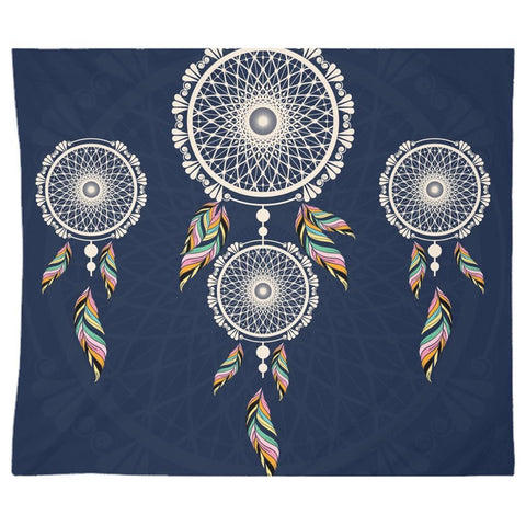 Bohemian Hanging Blue Dreamcatcher from my15bohemianart Collection Tapestry-Wall Tapestry-famenxt