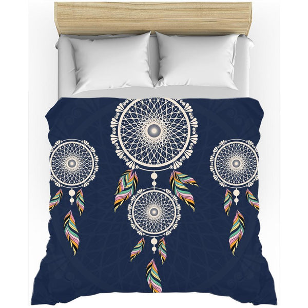 Bohemian Hanging Blue Dreamcatcher from my15bohemianart Collection Duvet Cover-Duvet Cover-famenxt