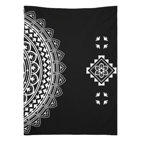 Half Mandala from my15bohemianart Collection Tapestry-Wall Tapestry-famenxt