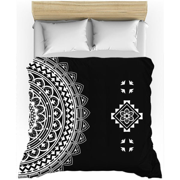 Half Mandala from my15bohemianart Collection Duvet Cover-Duvet Cover-famenxt