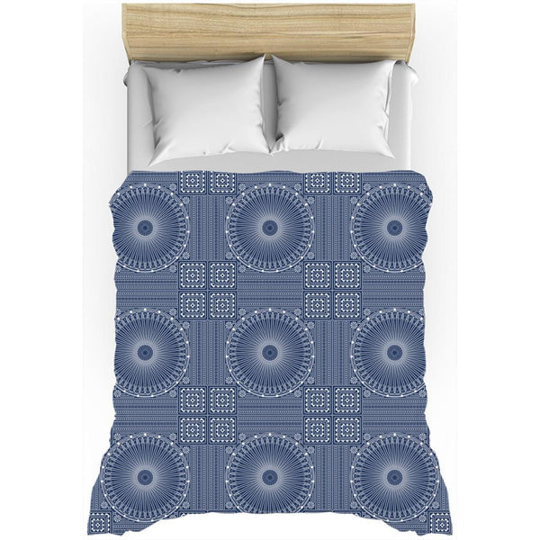 Gujarat Bandhani Blue from my15bohemianart Collection Duvet Cover-Duvet Cover-famenxt